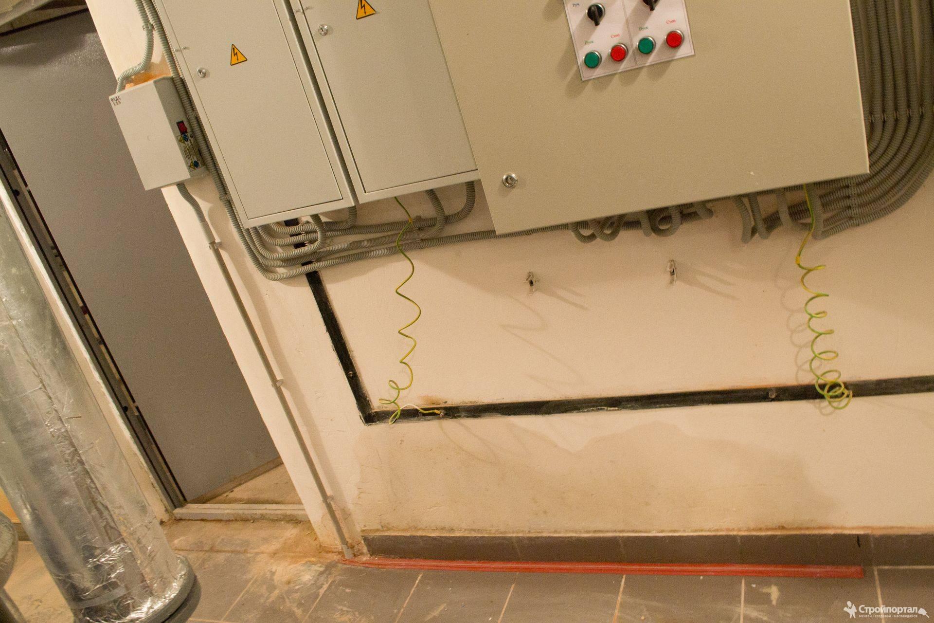 Места установки электризуемых барьеров (БЭ) в ОЗДС